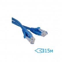 Патч-корд 15м UTP, Cat.5e RITAR литой синий