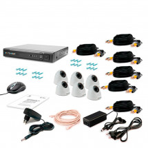 Комплект видеонаблюдения Tecsar AHD 6IN-3M DOME
