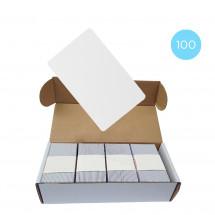 Набор 100 шт. Бесконтактная карта Tecsar Trek Mifare Classic 1K 0,8 мм белая