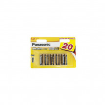 Батарейка Panasonic Alkaline Power AAA BLI 20шт (LR03REB/20BW)