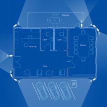 IP видеонаблюдение 8 камер (4Мп) для офиса