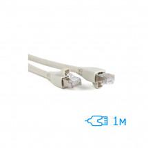 Патч-корд 1м FTP Cat.5e литой серый RJ45, CU