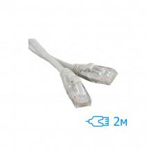 Патч-корд 2м UTP Cat.5e литой серый RJ45, CCA