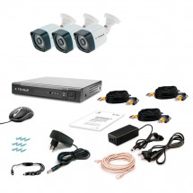 Комплект видеонаблюдения Tecsar AHD 3OUT-3M LIGHT