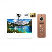 Комплект видеодомофона Neolight NeoKIT HD Pro WiFi Bronze