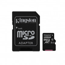 Карта памяти Kingston microSDXC 128GB Canvas Select Class 10 UHS-I U1 + SD-адаптер (SDCS/128GB)