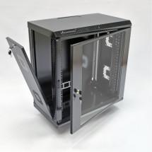 Шкаф навесной 12U, 600х350х640 мм, акрил, черный, CMS