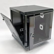 Шкаф навесной 12U, 600х600х640 мм, акрил, черный, CMS