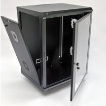 Шкаф навесной 15U, 600х500х773 мм, акрил, черный, CMS