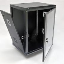 Шкаф навесной 15U, 600х600х773 мм, акрил, черный, CMS
