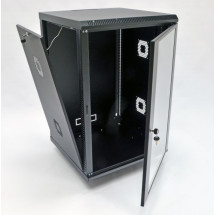 Шкаф навесной 18U, 600х600х907 мм, акрил, черный, CMS