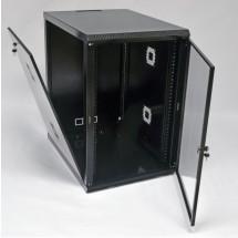 Шкаф навесной 18U, 600х800х907 мм, акрил, черный, CMS
