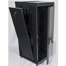 """Шкаф напольный 19"""" 18U, 610 х 675 мм, черный, CMS"""