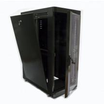 """Шкаф напольный 19"""" 24U, 610х1055 мм, черный, CMS"""