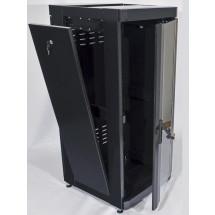 """Шкаф напольный 19"""" 24U, 610 х 675 мм, черный, CMS"""