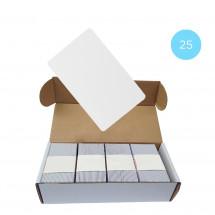 Набор 25 шт. Бесконтактная карта Tecsar Trek Mifare Classic 1K 0,8 мм белая