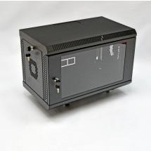 Шкаф навесной 6U, 600х350х373 мм, акрил, черный, CMS
