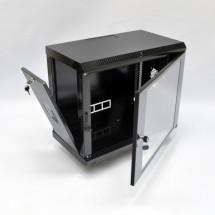 Шкаф навесной 9U, 600х350х507 мм, акрил, черный, CMS