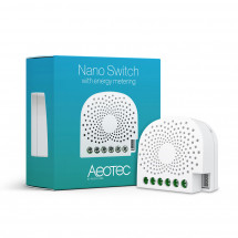 Вставное реле со счетчиком электроэнергии Aeotec Nano Switch with Power Metering ― AEOEZW116