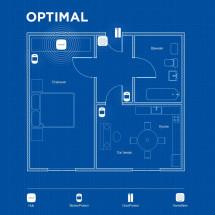 Беспроводная охранная сигнализация для квартиры OPTIMAL