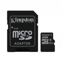 Карта памяти Kingston 16GB microSDHC Class 10 Canvas Select Plus 100R A1+ SD-адаптер (SDCS2/16GB)