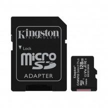 Карта памяти Kingston microSDXC 128GB Canvas Class 10 UHS-I U1 V10 A1 + SD-адаптер (SDCS2/128GB)