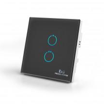 Сенсорный выключатель Z-Wave MCO Home на 2 канала, черный — MCO_TPS412B