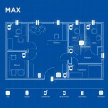 Беспроводная охранная сигнализация для офиса MAX