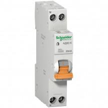 Дифференциальный автомат АД63К 1P+N 20A 30mА C Schneider Electric
