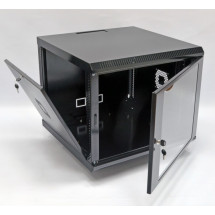 Шкаф навесной 9U, 600х600х507 мм, акрил, черный, CMS