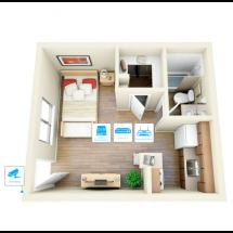 IP видеонаблюдение 1 камера (2 Мп) для квартиры