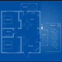 Видеонаблюдение AHD 2Мп 1 PTZ-камера для квартиры