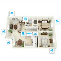 IP видеонаблюдение 6 камер (2Мп) для частного дома