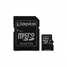 Карта памяти Kingston 128GB microSDXC C10 UHS-I + SD адаптер (SDC10G2/128GB)
