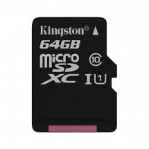Карта памяти Kingston 64GB microSDXC C10 UHS-I (SDC10G2/64GBSP)