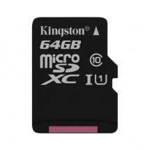 Карта памяти Kingston microSDXC 64GB Canvas Select Class 10 UHS-I U1 (SDCS/64GBSP)