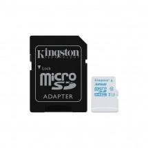 Карта памяти Kingston 32GB microSDHC C10 UHS-I U3 + SD адаптер Action (SDCAC/32GB)