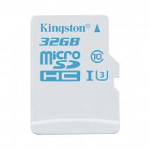 Карта памяти Kingston 32GB microSDHC C10 UHS-I U3 Action (SDCAC/32GBSP)