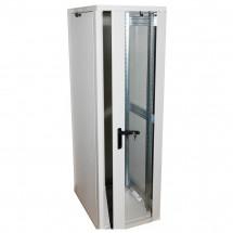 Шкаф напольный 33U-600x800 стекло, серый, ZT-Net