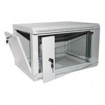 Шкаф навесной 18U-600 стекло, серый, ZT-Net