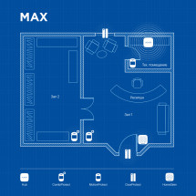 Беспроводная охранная сигнализация для объекта соц. инфраструктуры MAX
