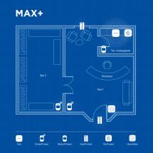 Беспроводная охранная сигнализация для объекта соц. инфраструктуры MAX+
