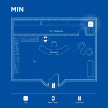 Беспроводная охранная сигнализация для объекта соц. инфраструктуры MIN