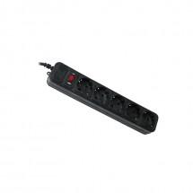 Сетевой фильтр Maxxter SPM5-G-6B 1.8 м кабель, 5 розеток, черный