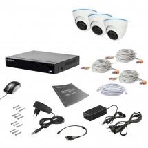 Комплект видеонаблюдения Tecsar AHD 3IN 5MEGA