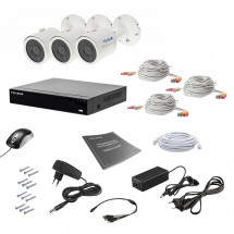 Комплект видеонаблюдения Tecsar AHD 3OUT 5MEGA