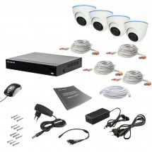 Комплект видеонаблюдения Tecsar AHD 4IN 2MEGA