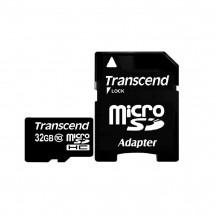 Карта памяти Transcend MicroSDHC 32GB Class 10 + SD-adapter (TS32GUSDHC10)