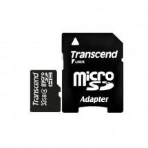 Карта памяти Transcend MicroSDHC 32GB Class 4 + SD-adapter (TS32GUSDHC4)