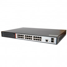 27-портовый управляемый гигабитный POE коммутатор Tecsar TS-2422sfp-m-GB